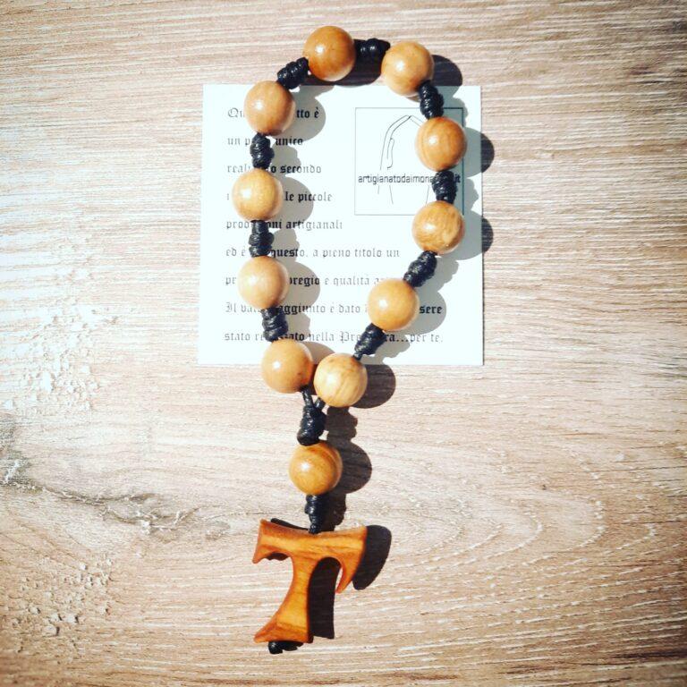 Decina per pregare il santo rosario in legno di ulivo