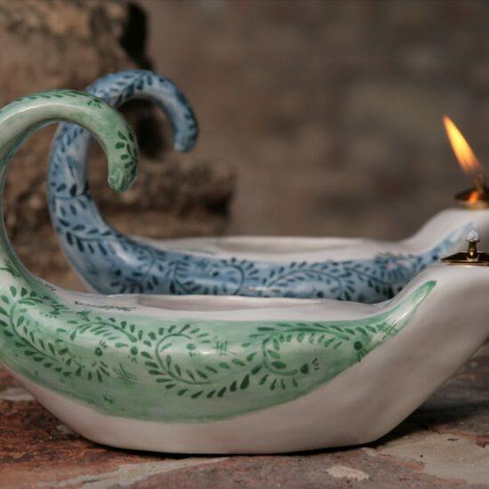 Lampada ad Olio Ceramica