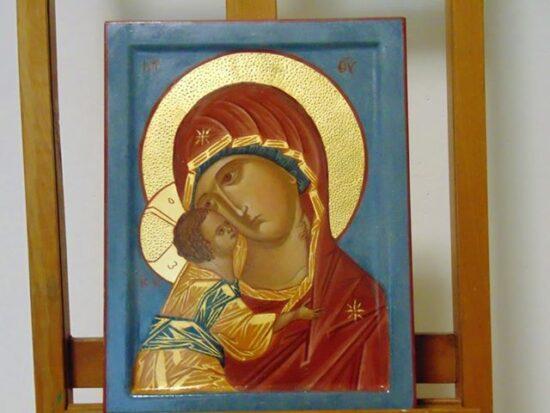 Madonna della Tenerezza Icona dipinta a mano