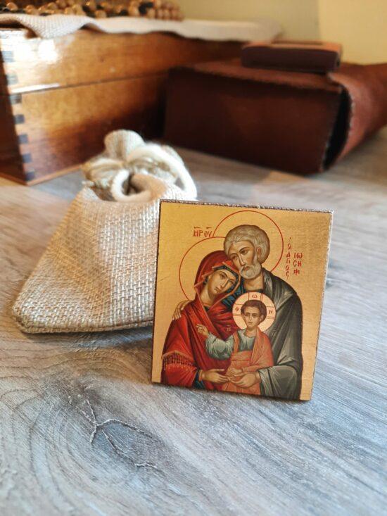 Bomboniera Santa Famiglia Icona realizzata a mano