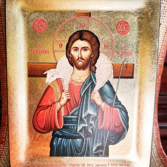 Gesù Buon Pastore Icona Greca